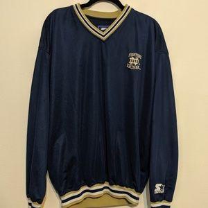 Starter Notre Dame VNeck Pullover Sweater Embroide
